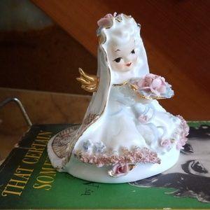 Antique 50s L'amour China Angel Figurine